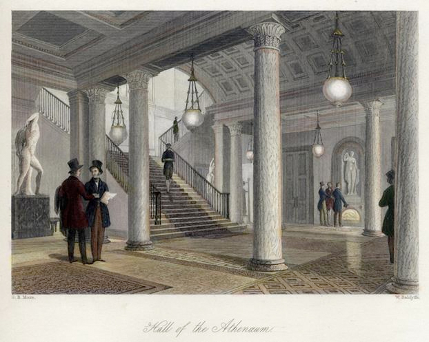 Klassisk herrklubb i London,  Athenaeum Club grundad 1824 [Bild Wikipedia]