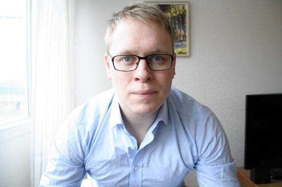 Jesper Ahlin, som han själv visar upp sig på sin blogg.