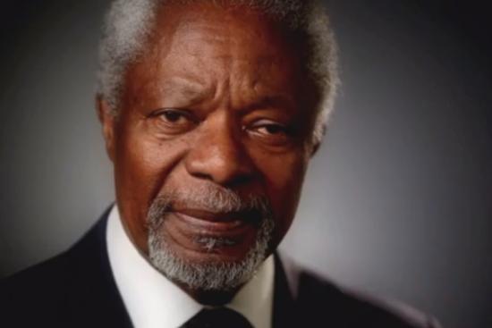 Kofi Annan, skärmdump från Skavlanprogrammet