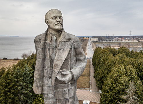 Den stora Leninstatyn i Dubna