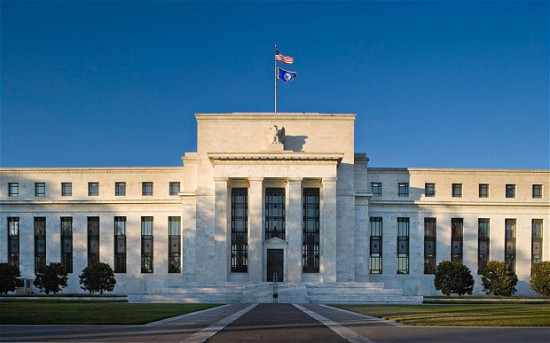 The Fed, Federal Reserve Bank, Washington DC. Main entrance on Constitution Avenue near