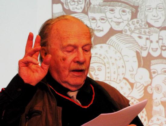 Jan Myrdal i talar om kulturen våren 2016