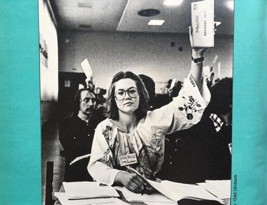 Foto från stämman 1977 av Odd Uhrbom, tryckt på baksidan av FiB/K 10/1977