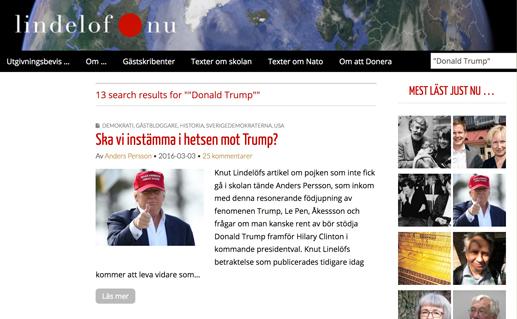 Skärmdump idag... Klicka för att komma till alla artiklar om presidentvalet.