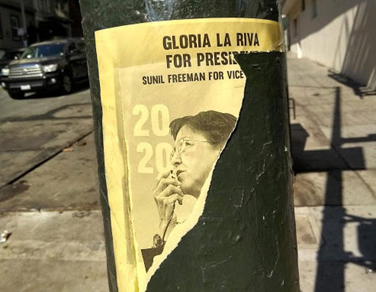 Gloria La Riva för Peace and Freedom Party blir nog inte president i år heller.